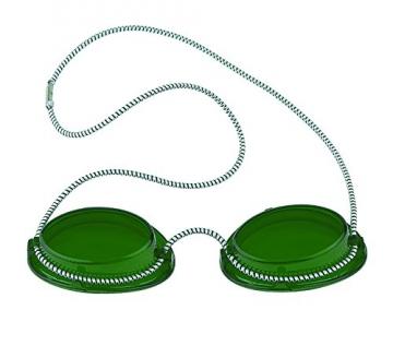 Solarium Schutzbrille grün UV Brille Solariumbrille mit Gummizug, 600005-grün -