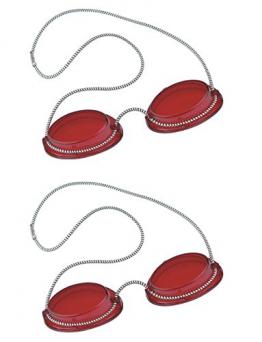 Solarium Schutzbrille rot UV Brille Solariumbrille mit Gummizug 2 Paar - By Beauty & Legwear Store -