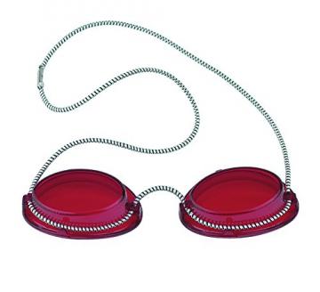 Solarium Schutzbrille rot UV Brille Solariumbrille mit Gummizug, 600015-rot -