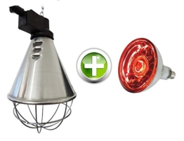 EIDER Infrarot Wärmestrahlgerät inkl. Leuchtmittel ( Birne 150W bereits enthalten ) - Wärmelampe für Tiere -